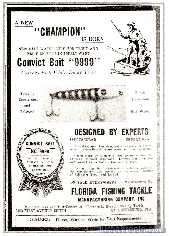 Florida Fishing Tackle Co 1939 Tampa Bay Times Newspaper Ad