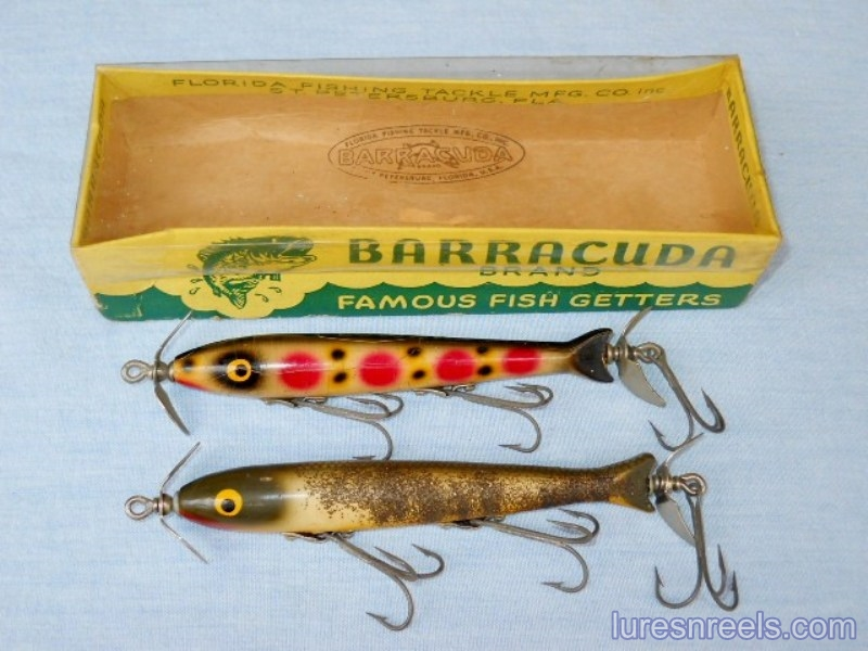 The No 60 TORPECUDA Painted Eye Lures circa 1950
