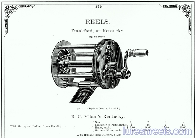B C MILAM Reel in 1888 Catalog