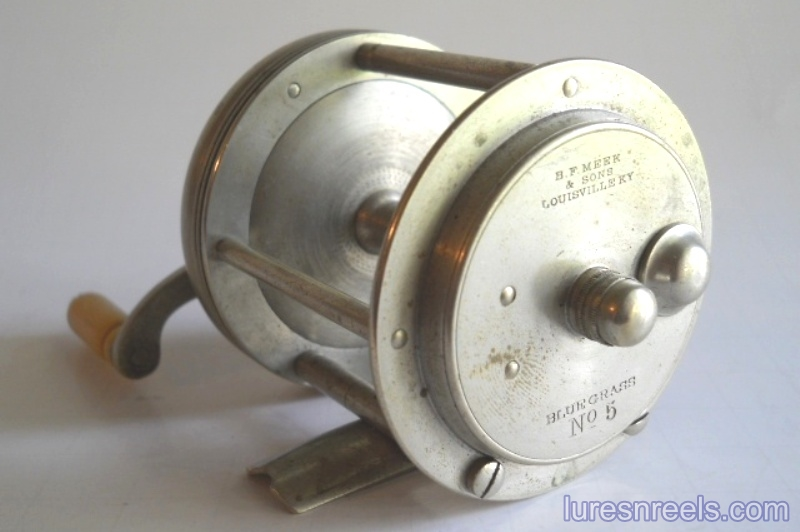 B F Meek and Sons No 5 BLUE GRASS Reel
