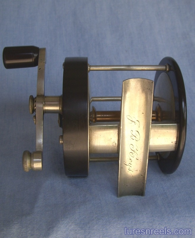 F vom HOFE Reel with 1867 Patent Date on Gear Bridge 5