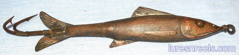 R HASKELL 6 Inch Musky Minnow Painesville OH circa 1859 1