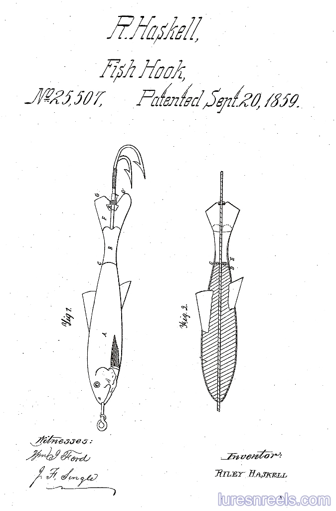 R HASKELL Minnow Patent 1
