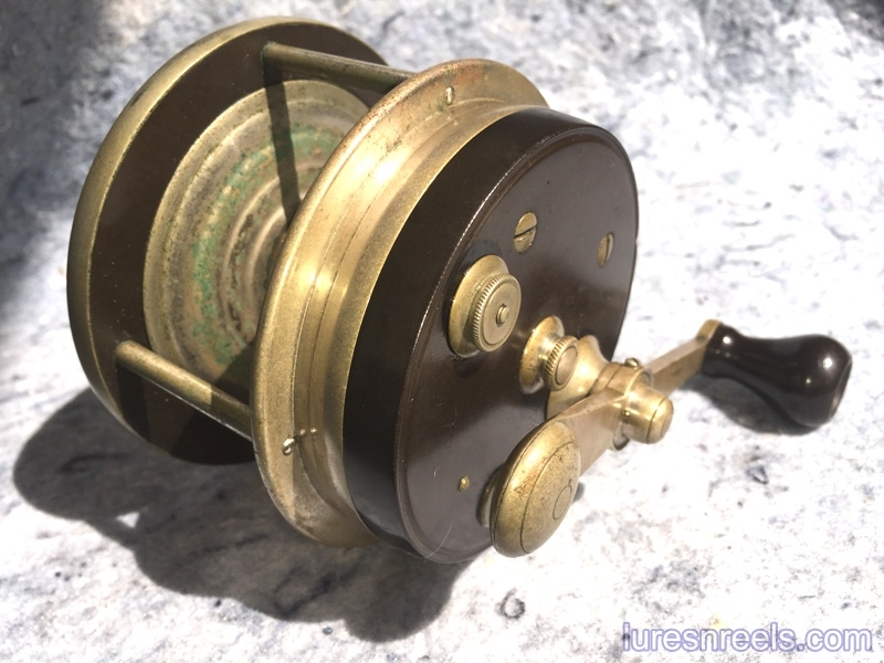 E HOLZMANN Surf King 1900 Patent Design Reel circa 1910 2