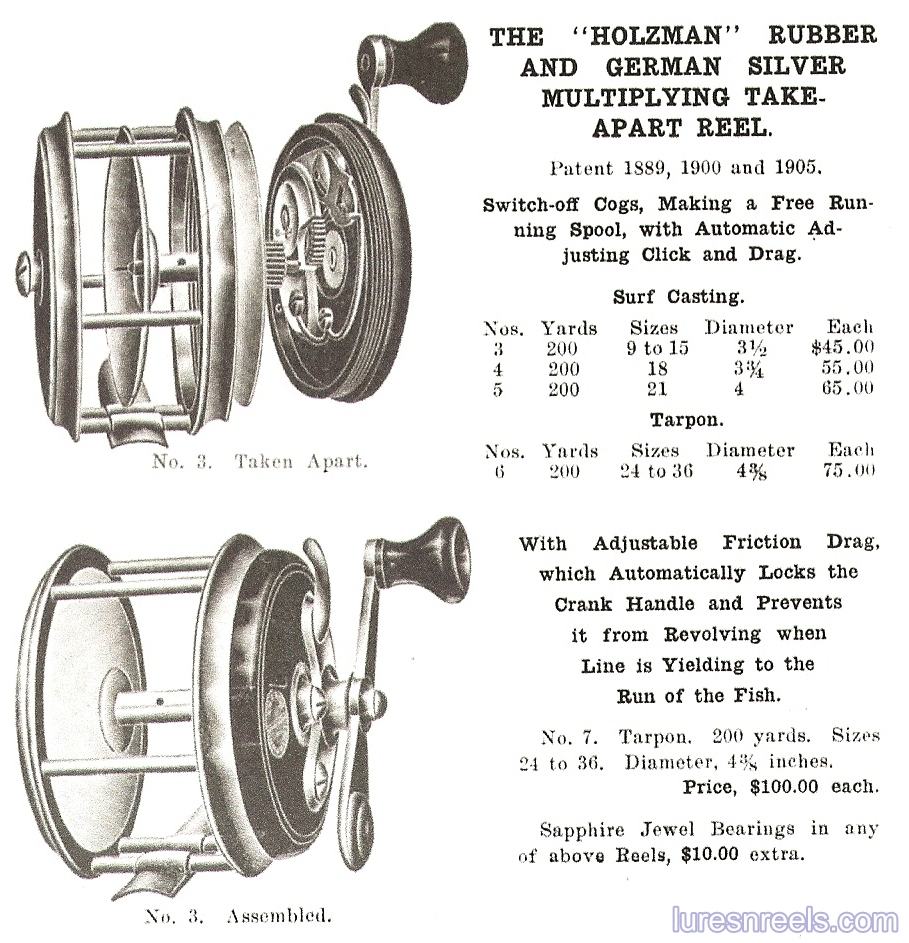 E HOLZMANN Reels in 1911 Thomas J Conroy Catalog 2