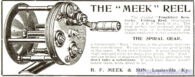 B F Meek and Sons 1898 Reel Ad