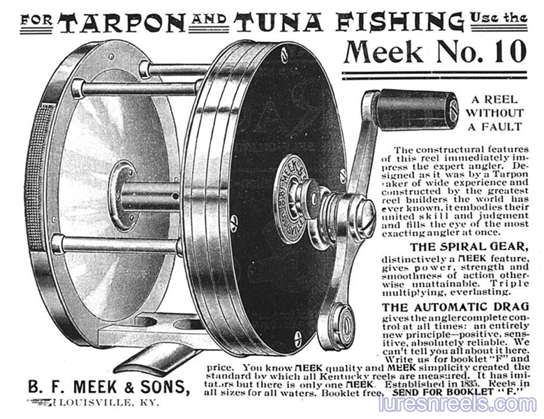 B F Meek and Sons No 10 Reel Ad