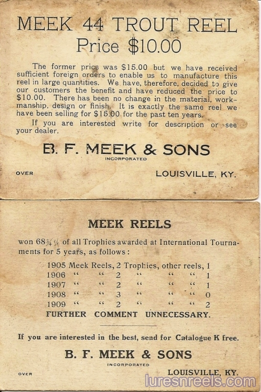 B F Meek and Sons Advertising Cards 2