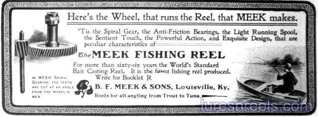 B F Meek and Sons 1902 Ad