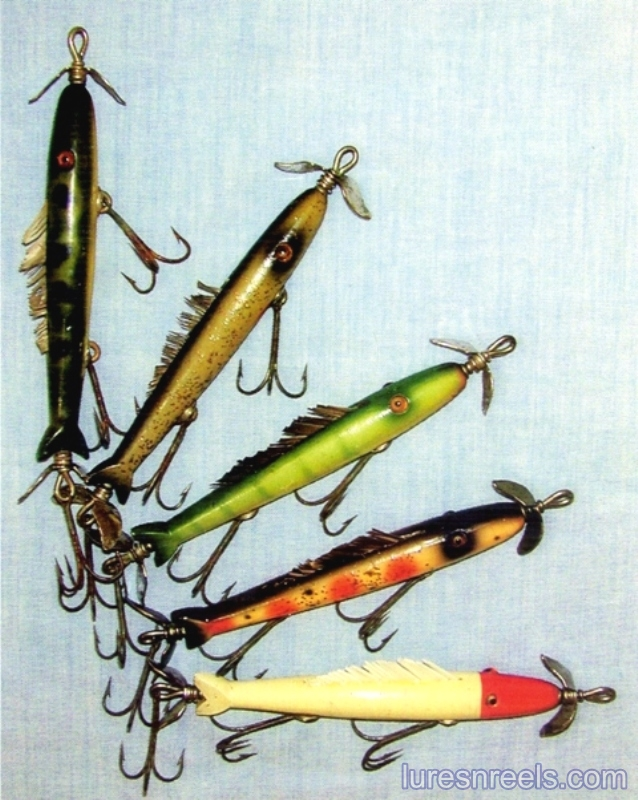 The No 50 TORPECUDA Glass Eye Lures circa 1940