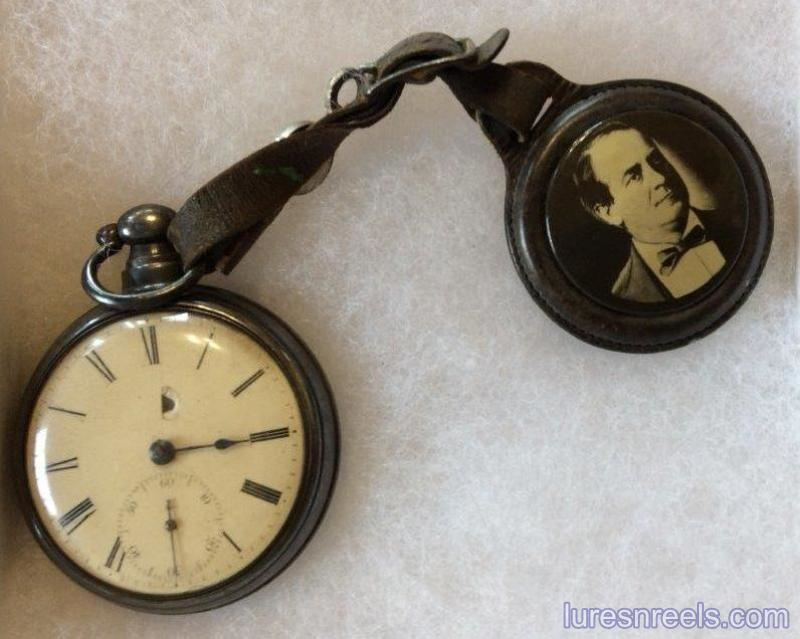 Pocket Watch Containing J F - B F MEEK Advertising Insert Inside Case 1